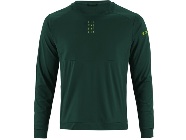 Cube AM Maillot manches longues à col rond Homme, dark green